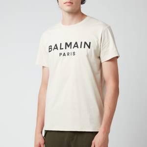 Balmain Men's Printed T-Shirt - Yellow/Black