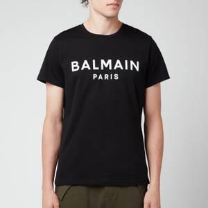 Balmain Men's Printed T-Shirt - Black/White
