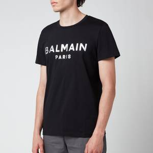 Balmain Men's Eco Sustainable Foil T-Shirt - Black/Silver