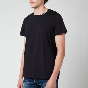 Balmain Men's Printed Collar T-Shirt - Black/White