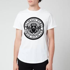 Balmain Men's Coin Flock T-Shirt - White/Black