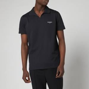 Balmain Men's Eco Design Flock Polo Shirt - Black/White