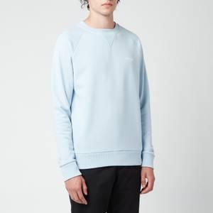 Balmain Men's Eco Design Flock Sweatshirt - Pale Blue/White