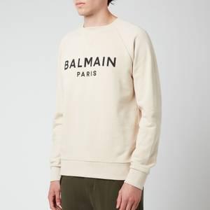 Balmain Men's Printed Sweatshirt - Yellow/Black