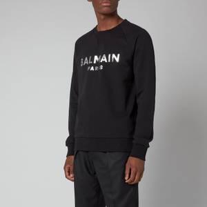 Balmain Men's Eco Sustainable Foil Sweatshirt - Black/Silver