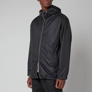 Balmain Men's Hooded Windbreaker Jacket - Black