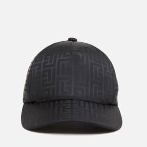Balmain Men's Monogram Nylon Cap - Black