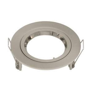Gu10 Single Fixed Downlight - Brushed Nickel