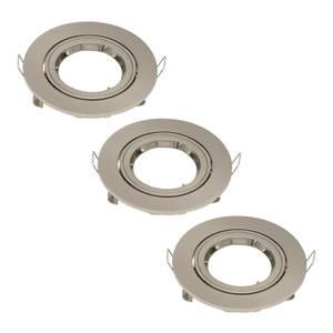 3 Pack Adjustable Downlight - Brushed Nickel