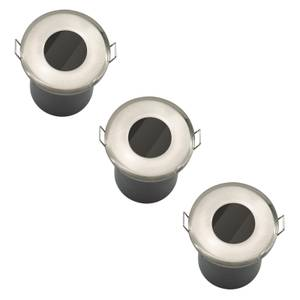 Fixed Fire Rated IP65 Pack 3 Downlights - Brushed Nickel