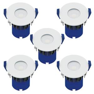 Fixed Fire Rated IP65 LED 5 Pack Downlights - White