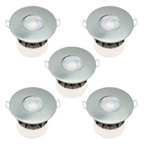 Fixed Fire Rated IP65 LED 5 Pack Downlight - Brushed Nickel