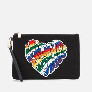 MICHAEL Michael Kors Women's Pride Jet Set Zip Pouch - Black
