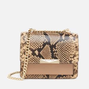 MICHAEL Michael Kors Women's Jade Python Gusset Cross Body Bag - Camel