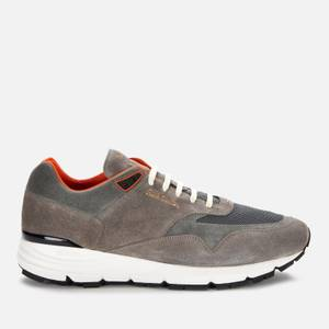 Paul Smith Men's Gordon Leather Running Style Trainers - Grey