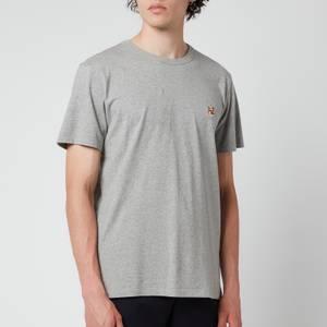 Maison Kitsuné Men's Fox Head Patch Classic T-Shirt - Grey Melange