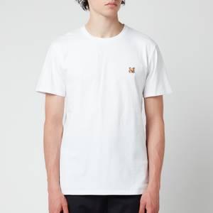 Maison Kitsuné Men's Fox Head Patch Classic T-Shirt - White