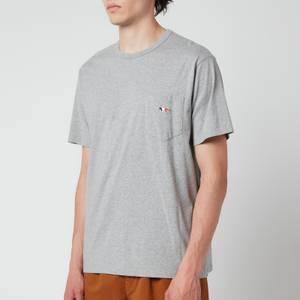 Maison Kitsuné Men's Tricolour Fox Patch Classic Pocket T-Shirt - Grey Melange