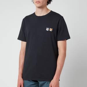 Maison Kitsuné Double Fox Head Patch Classic T-Shirt - Anthracite