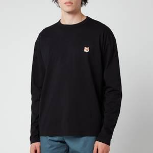 Maison Kitsuné Men's Fox Head Patch Regular Long Sleeve T-Shirt - Black