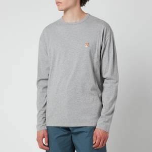Maison Kitsuné Men's Fox Head Patch Regular Long Sleeve T-Shirt - Grey Melange