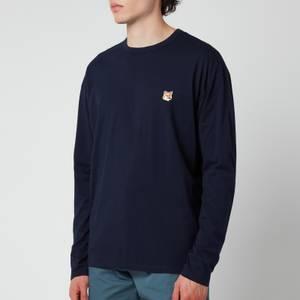 Maison Kitsuné Men's Fox Head Patch Regular Long Sleeve T-Shirt - Navy