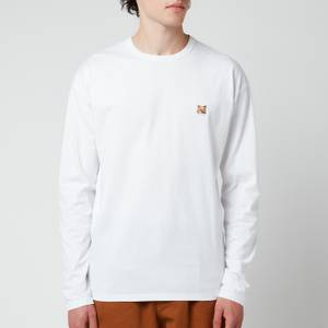 Maison Kitsuné Men's Fox Head Patch Regular Long Sleeve T-Shirt - White