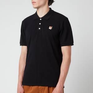 Maison Kitsuné Men's Fox Head Patch Classic Polo Shirt - Black