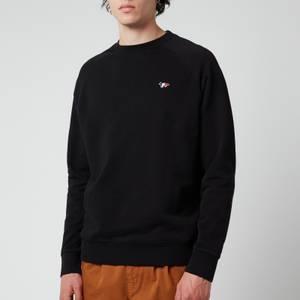 Maison Kitsuné Men's Tricolour Fox Patch Clean Sweatshirt - Black