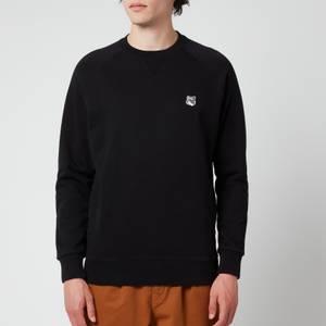 Maison Kitsuné Men's Grey Fox Head Patch Classic Sweatshirt - Black