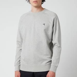 Maison Kitsuné Men's Grey Fox Head Patch Classic Sweatshirt - Grey Melange