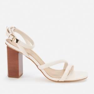 MICHAEL Michael Kors Women's Hazel Ankle Strap Block Heeled Sandals - Light Cream