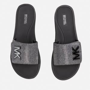 MICHAEL Michael Kors Women's Mk Platform Slide Sandals - Gunmetal