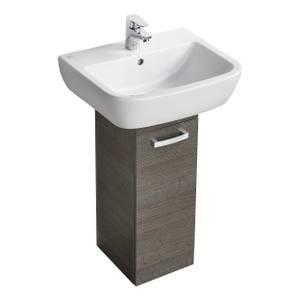 Ideal Standard Tempo 50cm Basin and Pedestal Unit Pack - Lava Grey