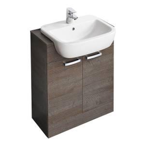 Ideal Standard Tempo 55cm Semi-Countertop Basin Unit - Lava Grey