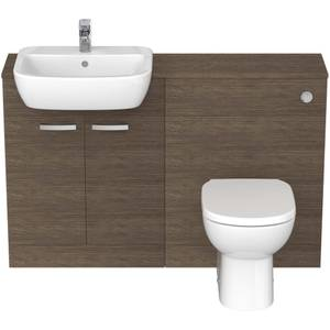 Ideal Standard Tempo Back To Wall Toilet and Semi-Countertop Basin Furniture Pack - Lava Grey