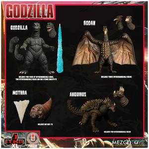 Mezco Godzilla: Destroy All Monsters Round One 5 Points XL Deluxe Box Set