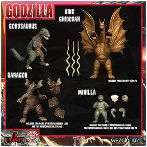 Mezco Godzilla: Destroy All Monsters Round Two 5 Points XL Deluxe Box Set