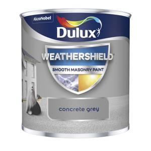Dulux Weathershield Smooth Masonry Paint - Concrete Grey - 250ml