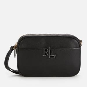 Lauren Ralph Lauren Women's Stacked Leather Carrie Cross Body Bag - Black