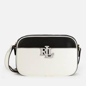 Lauren Ralph Lauren Women's Stacked Leather Carrie Cross Body Bag - Black/White