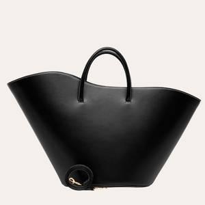 Little Liffner Women's Open Tulip Tote Bag Large - Black