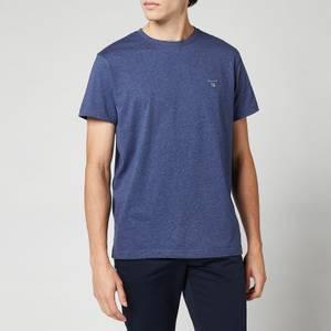 GANT Men's Original Short Sleeve T-Shirt - Dark Jeans Blue Melange