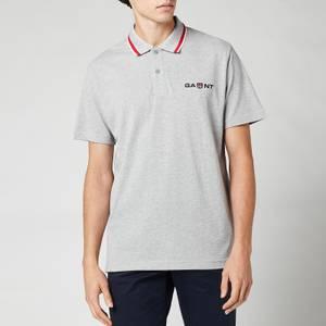 GANT Men's Retro Shield Polo Shirt - Grey Melange