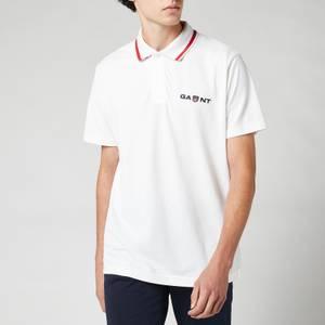 GANT Men's Retro Shield Polo Shirt - White