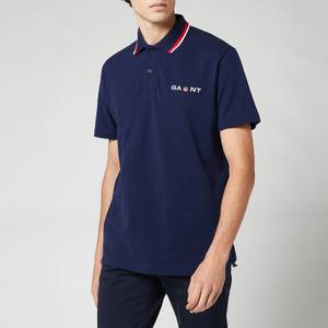 GANT Men's Retro Shield Polo Shirt - Classic Blue