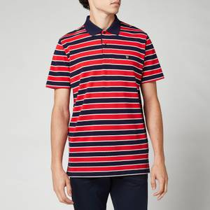 GANT Men's Retro Shield Stripe Polo Shirt - Classic Blue