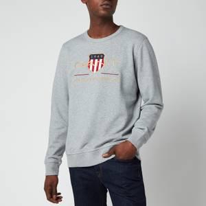 GANT Men's Archive Shield Crewneck Sweatshirt - Grey Melange