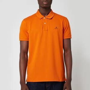 GANT Men's Contrast Collar Pique Rugger Polo Shirt - Savannah Orange