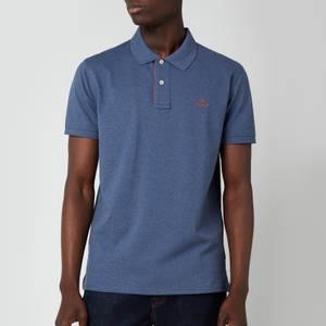 GANT Men's Contrast Collar Pique Rugger Polo Shirt - Dark Jeans Blue Melange